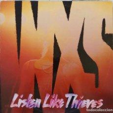 Discos de vinilo: INXS. LISTEN LIKE THIEVES. LP FRANCIA CON FUNDA INTERIOR CON LETRAS.. Lote 136481638