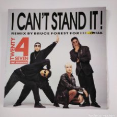 Discos de vinilo: TWENTY 4 SEVEN FEATURING CAPT. HOLLYWOOD. - I CAN'T STAND IT! REMIX BY BRUCE FOREST FOR UK. TDKDA46. Lote 136487610
