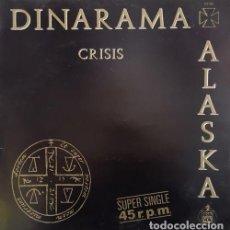 Discos de vinilo: ALASKA Y DINARAMA - CRISIS - MAXI SINGLE DE 12 PULGADAS RARO DE VINILO. Lote 136498918