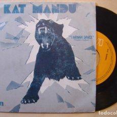 Discos de vinilo: KAT MANDU I WANNA DANCE + HOW WAS I TO KNOW - SINGLE 1983 - RCA. Lote 136507458