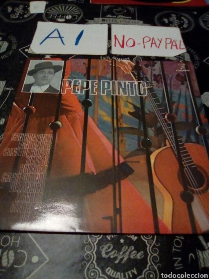 PEPE PINTO , CANCION PINTO , FANDANGOS ... COLUMBIA C 7105 VER FOTOS ESTADO FUNDA DESPEGADA (Música - Discos - LP Vinilo - Flamenco, Canción española y Cuplé)