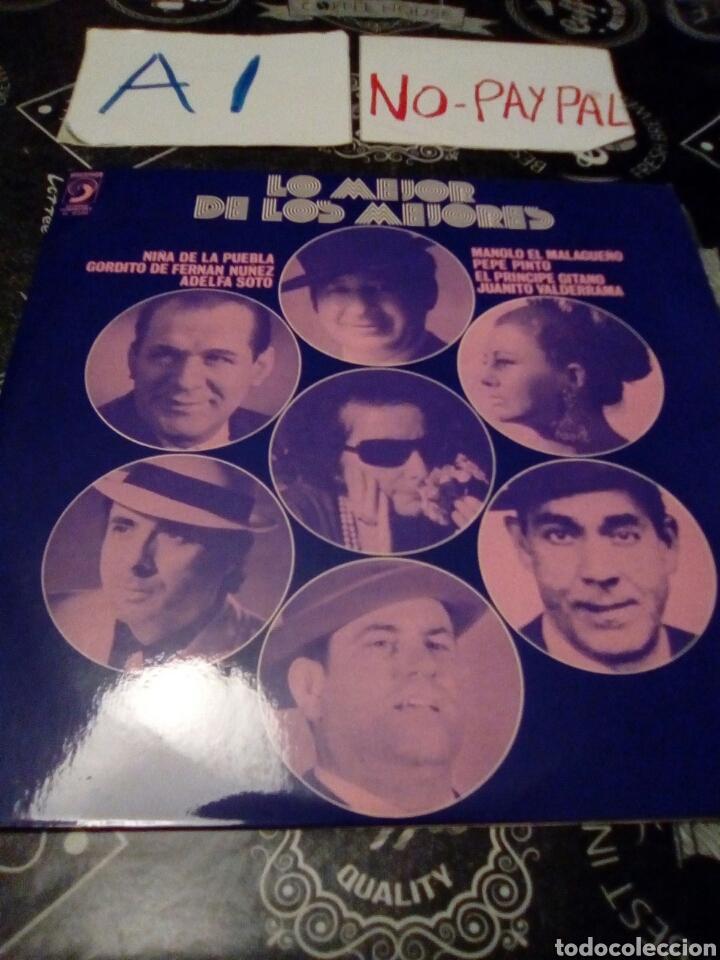LO MEJOR DE LOS MEJORES, NIÑA DE LA PUEBLA, ADELFA SOTO, EL PRÍNCIPE GITANO, PEPE PINTO............. (Música - Discos - LP Vinilo - Flamenco, Canción española y Cuplé)