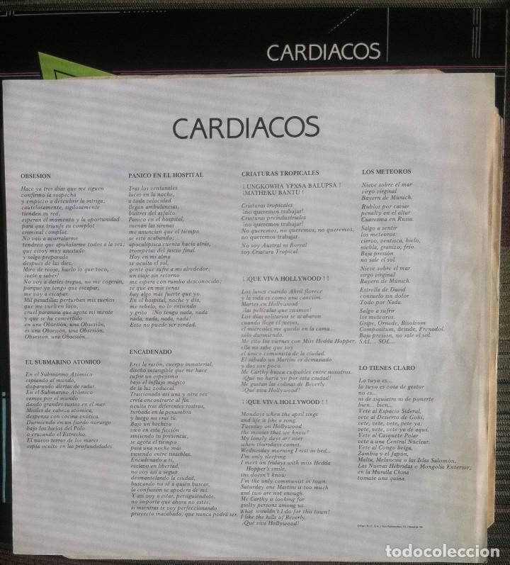 Discos de vinilo: Cardiacos. Obsesion - LP - DRO 1984 Edición española EX - Foto 3 - 136523966