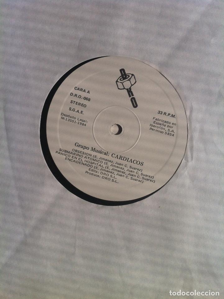 Discos de vinilo: Cardiacos. Obsesion - LP - DRO 1984 Edición española EX - Foto 4 - 136523966