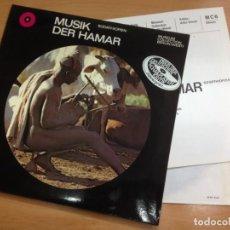 Discos de vinilo: LP DOBLE CON LIBRETO INTERIOR MUSIK DER HAMAR MUSICA AFRICANA SUDATHIOPIEN . Lote 136548538