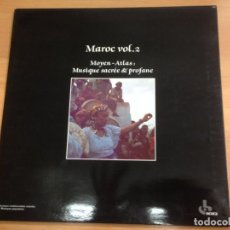 Discos de vinilo: LP MOYEN ATLAS MUSIQUE SACREE PROFANE MAROC VOL 2. Lote 136553578