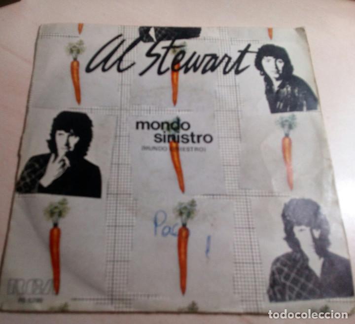 AL STEWART.MONDO SINISTRO.1980. (Música - Discos de Vinilo - Singles - Pop - Rock Extranjero de los 80)