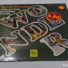 Discos de vinilo: STEVIE WONDER - WHERE I'M COMING FROM LP 1983. Lote 136633582