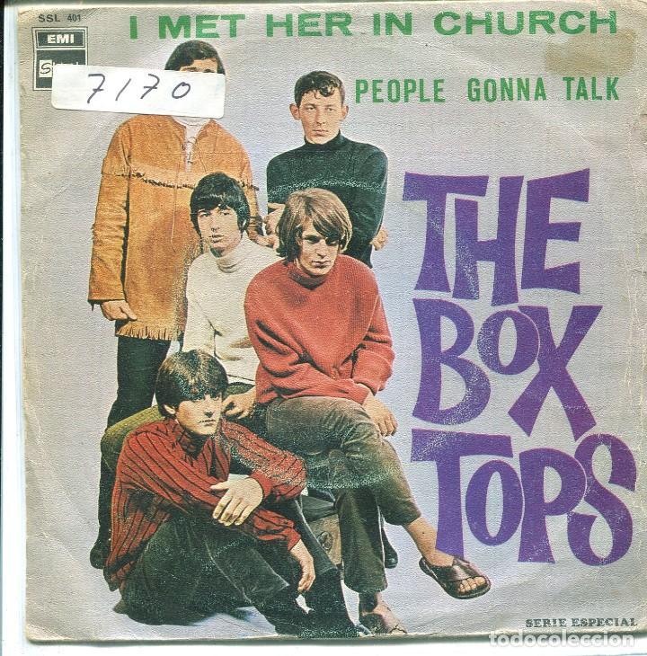 Usado, THE BOX TOPS / I MET HER IN CHURH / PEOPLE GONNA TALK (SINGLE 1968) segunda mano