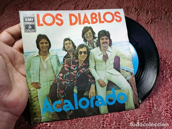 DIABLOS - ACALORADO / CUARTO DE ESTAR - SINGLE EMI 1974 (Música - Discos - Singles Vinilo - Flamenco, Canción española y Cuplé)