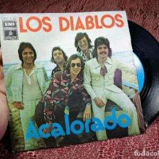 Discos de vinilo: DIABLOS - ACALORADO / CUARTO DE ESTAR - SINGLE EMI 1974. Lote 136680038