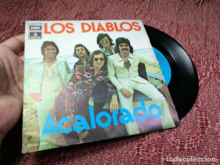 Discos de vinilo: DIABLOS - ACALORADO / CUARTO DE ESTAR - SINGLE EMI 1974 - Foto 3 - 136680038