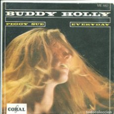 Discos de vinilo: BUDDY HOLLY / PEGGY SUE / EVERYDAY (SINGLE ESPAÑOL 1968). Lote 136684678