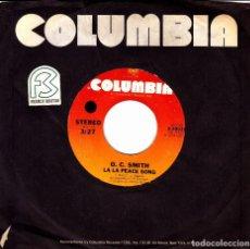 Discos de vinilo: O.C. SMITH - LA LA PEACE SONG + WHEN MORNING COMES SINGLE NO COVER USA 1973. Lote 136685790