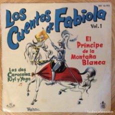 Discos de vinil: LOS CUENTOS DE FABIOLA VOL 1 HISPAVOX AÑO 1960 BUENA CONSERVACION. Lote 136692414