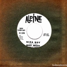 Discos de vinilo: MARY MAZZA - A SCHOOLGIRL'S PRAYER + NIZA BOY SINGLE SIN PORTADA USA RARO . Lote 136693414