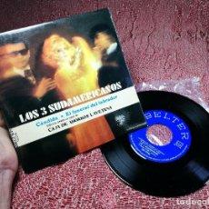 Discos de vinilo: LOS 3 SUDAMERICANOS - CÁNDIDA, EL FUNERAL DEL LABRADOR - SINGLE 45 VINILO. Lote 136698122