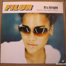 Disques de vinyle: FILUR MEETS MISS NELLIE ETTISON – IT'S ALRIGHT - DISCO:WAX ? 2000 - MAXI - PLS. Lote 136702478