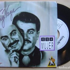 Discos de vinilo: TONY VEGA ESA MUJER - SINGLE PROMOCIONAL 1992 - BAT. Lote 136704926