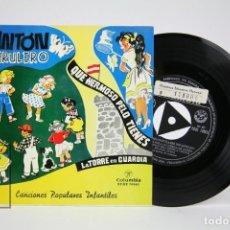 Discos de vinilo: DISCO EP DE VINILO - ANTÓN PIRULERO / QUE HERMOSO PELO TIENES.... - COLUMBIA - AÑO 1963. Lote 136706110