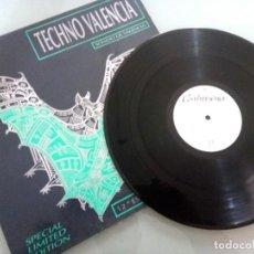 Discos de vinilo: TECHNO VALENCIA VOL.1 / LP / ESPECIAL EDICION LIMITADA / 1991 / BUEN ESTADO. Lote 136706730