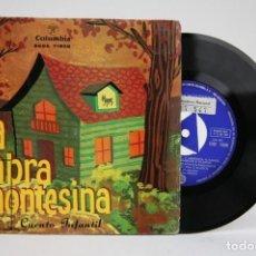 Discos de vinilo: DISCO EP DE VINILO - LA CABRA MONTESINA / CUENTO INFANTIL - COLUMBIA - AÑO 1961. Lote 136710014