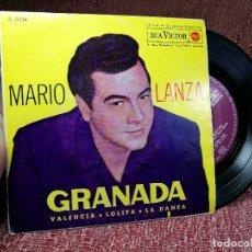 Disques de vinyle: MARIO LANZA - GRANADA / VALENCIA / LOLITA / LA DANZA - RCA VICTOR - 1962. Lote 136715350