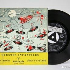Discos de vinilo: DISCO EP DE VINILO - EL VIOLÍN ENCANTADO, CAPERUCITA Y LOS TRES CERDITOS - COLUMBIA - AÑO 1962. Lote 136716742