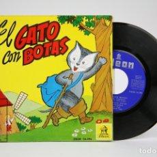Discos de vinilo: DISCO EP DE VINILO - EL GATO CON BOTAS / CUENTO INFANTIL - ODEON - AÑO 1960. Lote 136716792