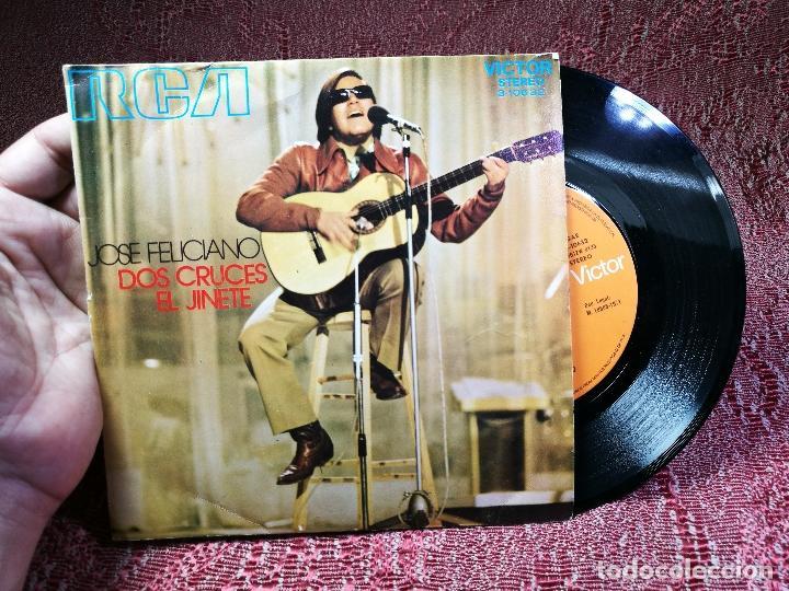 JOSE FELICIANO- DOS CRUCES- EL JINETE- RCA VICTOR 1971 (Música - Discos - Singles Vinilo - Cantautores Españoles)