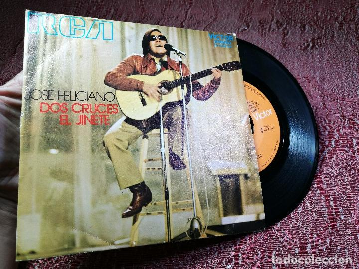 Discos de vinilo: JOSE FELICIANO- DOS CRUCES- EL JINETE- RCA VICTOR 1971 - Foto 3 - 136717946
