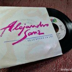 Discos de vinilo: ALEJANDRO SANZ SE LE APAGO LA LUZ, SINGLE PROMO SPAIN 1991. Lote 255504485