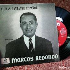 Discos de vinilo: MARCOS REDONDO - EL DIVO / LA LINDA TAPADA - SINGLE . Lote 136723566