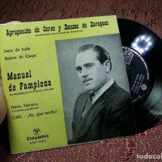 Discos de vinilo: MANUEL DE PAMPLONA - JOTAS DE BAILE / BOLERO DE CASPE / FIESTA NAVARRA / CALLE AY QUE NOCHE EP 1963. Lote 136723878