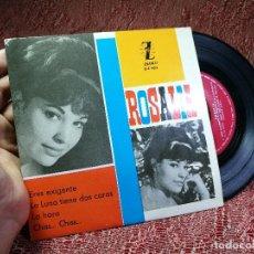 Discos de vinilo: ROSALIA EP SPAIN 1963 ERES EXIGENTE - ZAFIRO Z-E-432 - CHICA YE-YE ESPAÑOLA - AUGUSTO ALGUERO. Lote 136725402