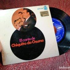 Discos de vinilo: EL CANTE DE CHIQUITO DE OSUNA - HISPAVOX HH16.558 - AÑO 1966. Lote 136735390