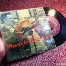 Discos de vinilo: MANOLO ESCOBAR Y SUS GUITARRAS -DEBAJO DE LOS OLIVOS Y 3 MAS -SAEF . Lote 136735734