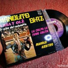 Discos de vinilo: MANOLITO DIAZ - ARSA Y OLE / ER NIÑO DEL COLUMPIO + 2 - EP SPAIN 1968. Lote 136736758