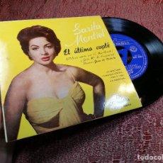Discos de vinilo: SARA MONTIEL ( EL ULTIMO CUPLE ) - EL RELICARIO + 3 - BSO. Lote 136737310