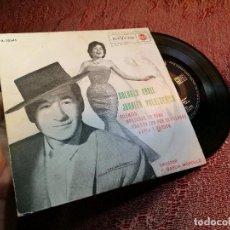 Discos de vinilo: JUANITO VALDERRAMA Y DOLORES ABRIL - SILENCIO - EP . Lote 136737522