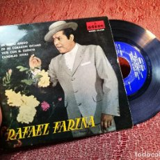 Discos de vinilo: RAFAEL FARINA - MI PERRO AMIGO. DE MI CORAZÓN GITANO... (EP 1961, ODEON DSOE 16.428). Lote 136737694