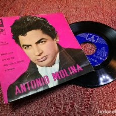 Discos de vinilo: ANTONIO MOLINA BENDITA TIERRA/ANTE ESA CRUZ/COM CANTA LA ALONDRA/MI PETENERA EP 1962 ODEON. Lote 136737918