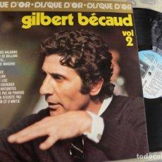 Discos de vinilo: GILBERT BECAUD VOL.2 -LP 1975 -EDIC. FRANCESA . Lote 136743178