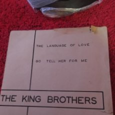 Discos de vinilo: VINILO THE KING BROTHERS THE LANGUAGE OF LOVE. Lote 136755092