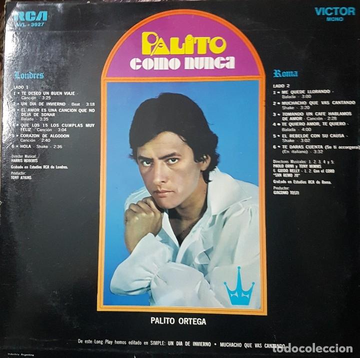 Discos de vinilo: PALITO ORTEGA LP SELLO RCA VICTOR EDITADO EN ARGENTINA - Foto 2 - 136756946
