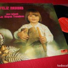 Dischi in vinile: CORO INFANTIL ALEGRES TROBADORES DIR. J.M.PARELLADA FELIZ NAVIDAD LP 1971 GATEFOLD SPAIN BOYS CHOIR. Lote 136763946