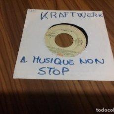 Discos de vinilo: KRAFTWERK. MUSIQUE NON STOP. SINGLE BUEN ESTADO. PORTADA BLANCA CON NOMBRE. . Lote 136765078