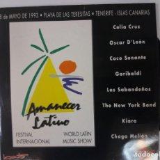 Discos de vinilo: AMANECER LATINO - FESTIVAL INTERNACIONAL - DOBLE LP VINILO. Lote 136771754