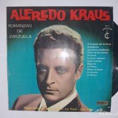 Discos de vinilo: ALFREDO KRAUS - ROMANZAS DE ZARZUELA - LP VINILO. Lote 136772062