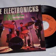 Discos de vinilo: THE ELECTRONICKS 7´EP AÑO 1965 - LA DANZA DE ZORBA + 3 TEMAS INSTRUMENTAL (SHADOWS/VENTURES). Lote 136780334